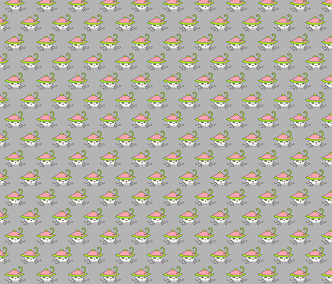 Pink Hat Kitteh fabric by taztige on Spoonflower - custom fabric