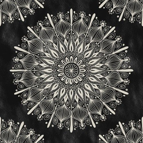 Vintage Mandala on Black