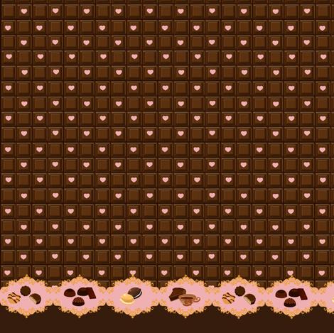 Sweet Like Chocolate - Strawberry fabric by shadow-people on Spoonflower - custom fabric