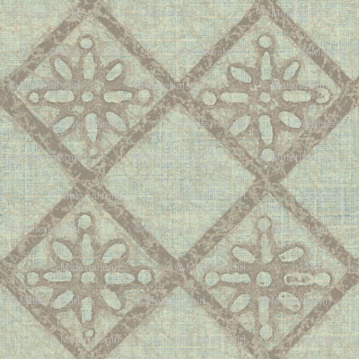 Antique French Tile - pale mint