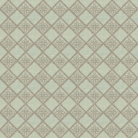 Antique French Tile - pale mint fabric by materialsgirl on Spoonflower - custom fabric