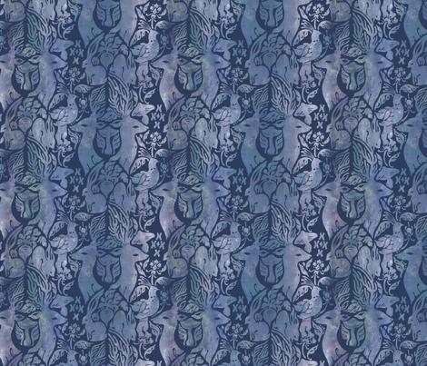 Fairytale Forest (Midnight) fabric by rabbit_engine on Spoonflower - custom fabric