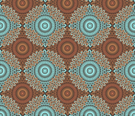 Grandma Neo - Prince Aqua fabric by telden on Spoonflower - custom fabric