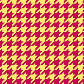 Houndstooth Yellow Magenta