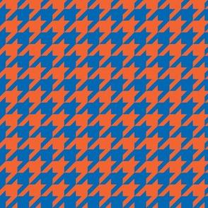 Houndstooth Blue Orange
