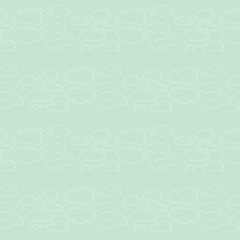 clouds fabric by kerryn on Spoonflower - custom fabric