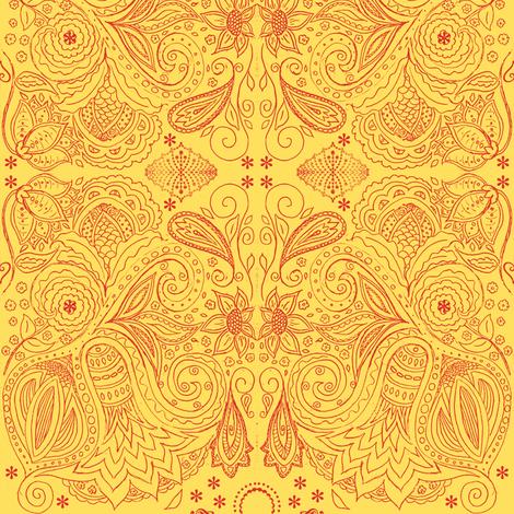 fancy red fabric by kerryn on Spoonflower - custom fabric