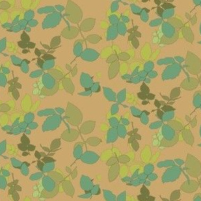 Rose Leaves Ditsy Vintage