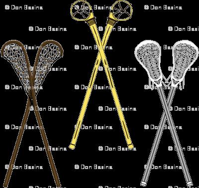 Crossed Lacrosse Sticks