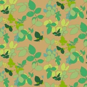 Rose Leaves Emerald