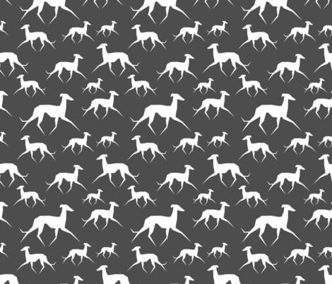 Italian Greyhound fabric by lobitos on Spoonflower - custom fabric