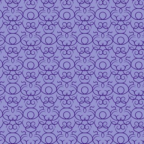scrolls - purple fabric by ravynka on Spoonflower - custom fabric