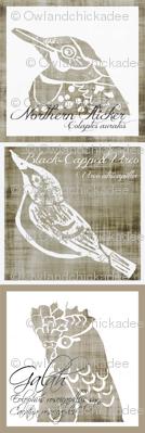Birds - Panels/Pillows - Linen/White