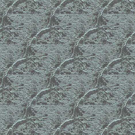 Winter Trees - Frosted fabric by telden on Spoonflower - custom fabric