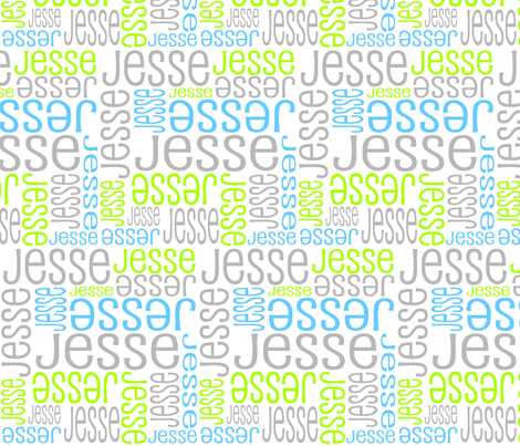 Personalised Name Fabric - Lime Grey Blue fabric by shelleymade on Spoonflower - custom fabric