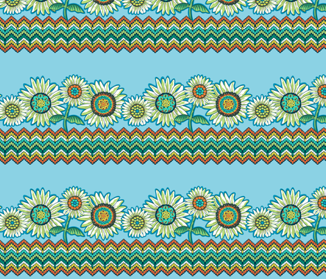 Believe_border_emerald fabric by mindsthatcreate on Spoonflower - custom fabric