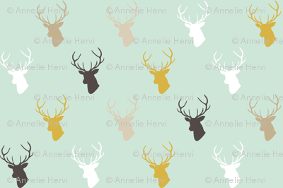 Deer In Mint half scale