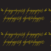 """Lord of the rings - """"one ring"""" script-ch"""