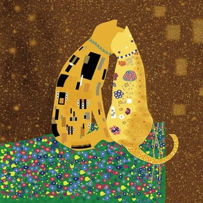 "Klimts_Kats 8""x8"""