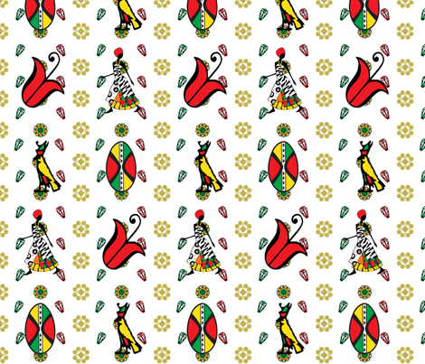 Inspired by Africa fabric by ronnyjohnson on Spoonflower - custom fabric