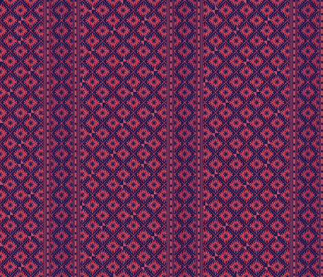 african_blockprints rose fabric by glimmericks on Spoonflower - custom fabric