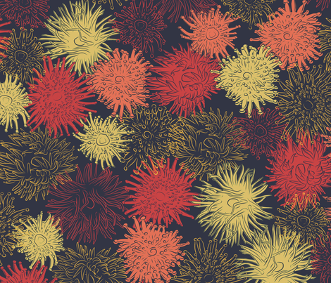 Anemones fabric by resdesigns on Spoonflower - custom fabric