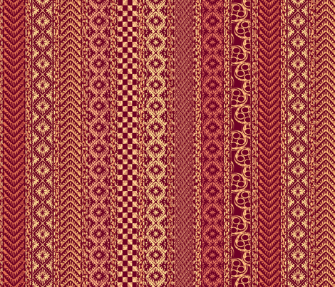 african_stripes-red fabric by glimmericks on Spoonflower - custom fabric