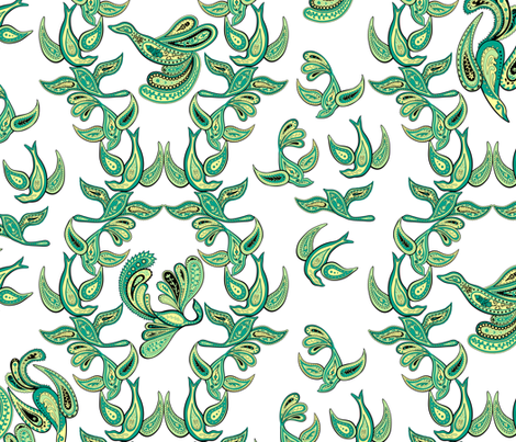 Paisley Birds fabric by resdesigns on Spoonflower - custom fabric