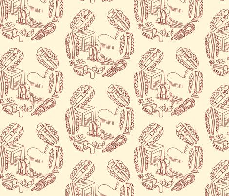 Murder Mystery Board Game Toile fabric by mongiesama on Spoonflower - custom fabric