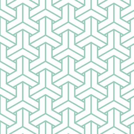 bishamon in grayed jade fabric by chantae on Spoonflower - custom fabric