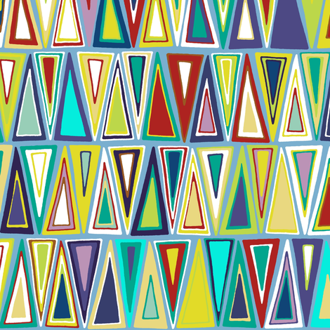 dusk triangles fabric by scrummy on Spoonflower - custom fabric