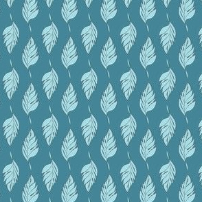 Feathered Plume - Blue