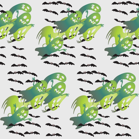 ghosts fabric by krs_expressions on Spoonflower - custom fabric