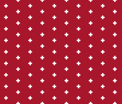 swisscross_red fabric by trizzuto on Spoonflower - custom fabric