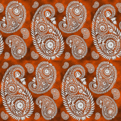 paisley-rust fabric by krs_expressions on Spoonflower - custom fabric