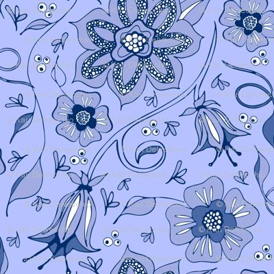 Whispery Periwinkle Garden