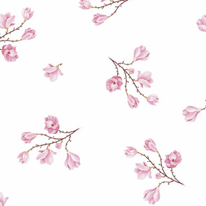 almond Blossoms_white