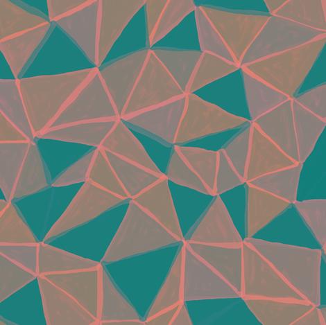 painted triangles 3 fabric by ravynka on Spoonflower - custom fabric