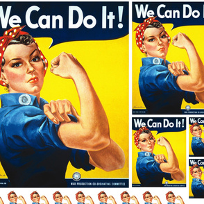 Rosie The Riveter Fabric Wallpaper Gift Wrap