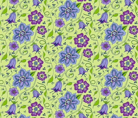 Whispery Garden fabric by kari_d on Spoonflower - custom fabric
