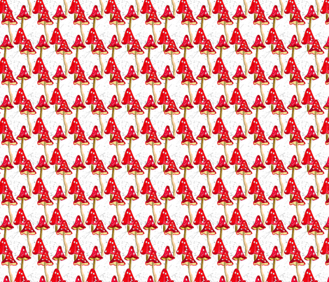 spotty Toadstools fabric by linsart on Spoonflower - custom fabric