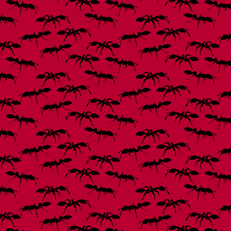 The Ants Go Marching fabric by pond_ripple on Spoonflower - custom fabric