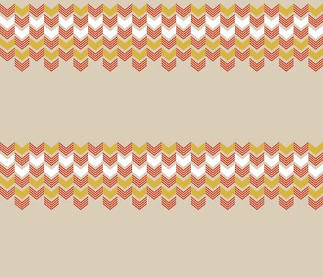 Tan Mustard Zig Zag fabric by mrshervi on Spoonflower - custom fabric