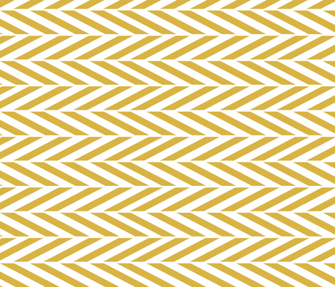 mustard herringbone fabric by mrshervi on Spoonflower - custom fabric