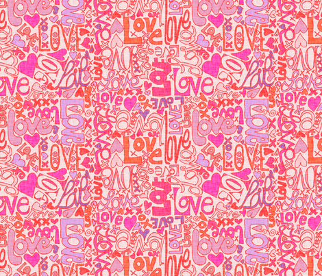 Love Letters.  Subtlty. fabric by wiccked on Spoonflower - custom fabric