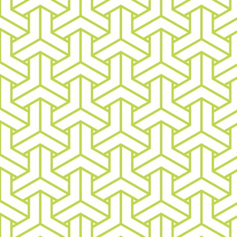 bishamon in peridot fabric by chantae on Spoonflower - custom fabric