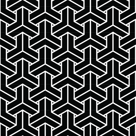 bishamon solid in black fabric by chantae on Spoonflower - custom fabric