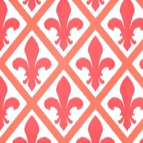 pink fleur lattice