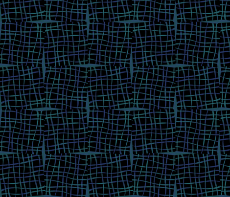 ribbonBlocks-blue fabric by melhales on Spoonflower - custom fabric