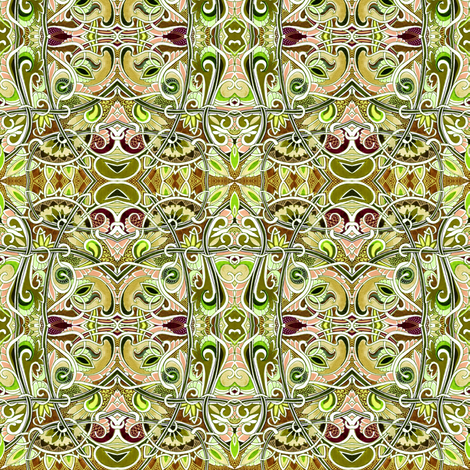 Earthtones in Paisleyland  fabric by edsel2084 on Spoonflower - custom fabric